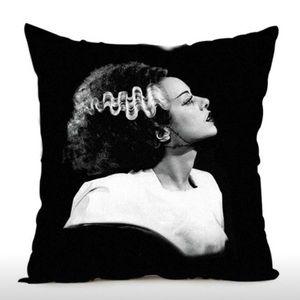FRANKENSTEIN'S BRIDE Pillow Case Cover- Square.
